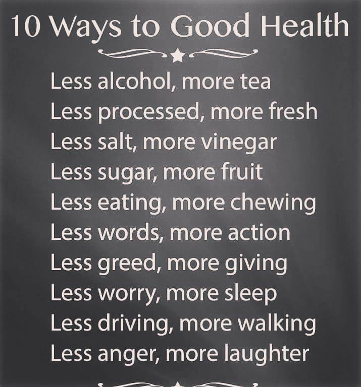 10 Ways to Good Health
